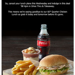 Half Sub, Small Chips, Potato & Gravy + 250ml Soft Drink $5 (Until 4pm Daily) @ Red Rooster