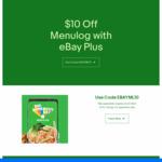 $10 off Your Order @ Menulog (Min Spend $30)