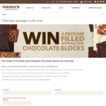 Win 1 of 5  Chocolate Block Packages Worth $169.50 from Haigh's