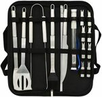 AULUX BBQ Tool Set, 19pcs Stainless Steel $14.99 + Delivery ($0 with Prime/ $39 Spend) @ HUAYOUTE via Amazon AU