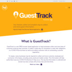 Free - COVID-19 Visitor Record Keeping - Restaurants, Cafes, Food Courts and Others @ GuestTrack
