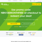 1 Month Free on nbn 100 Plans @ Aussie Broadband (New Customers)