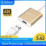 ORICO Aluminum 4K@60Hz USB 3.1 Type-C to HDMI Adapter US$6.18 (~A$8.59) Delivered @ Orico Official Store AliExpress