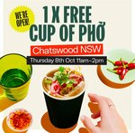[NSW] Free Cup of Phở between 11am to 2pm @ Roll'd Chatswood