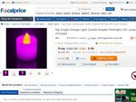 48% off Candle Shaped LED Lamp - $0.99 + Free Shipping @ FocalPrice