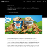 6,000 Free Pints of Ben & Jerry's Ice Cream (Delivery Fee Applies) @ Uber (Available between 3pm to 10.30pm Local Each Day)