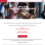 20% off 18 Month Memberships + $0 Start up Fee @ Fitness First