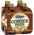 [VIC, SA, NT] 50% off Saxbys Ginger Beer or Diet Ginger Beer 4pk - $2.50 VIC, $2.67 SA/NT @ Woolworths