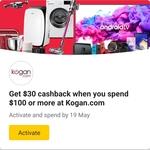 CommBank Rewards: Spend $100 Get $30 Cashback @ Kogan