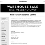 [VIC, QLD, NSW] up to 80% off Furniture @ Lounge Lovers