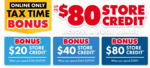 Bonus Store Credit - $80 with $380 Spend, $40 with $260, $20 with $140 @ The Good Guys (Online Only)