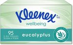 Kleenex 3 Ply Facial Tissues Eucalyptus (95 Tissues) $1.30 ($1.17 S&S) + Delivery ($0 Prime) @ Amazon / Woolworths