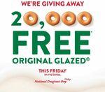 [VIC] One Free Krispy Kreme Original Glazed Donut - Fri 9 July (Excludes 7-Eleven, Woolworths, Online, Delivery)