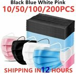 Face Masks - Box of 200, 3 Layer, Disposable US$12.77 (~A$18) Delivered @ Professional Safety Health Store AliExpress