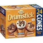 [NSW] ½ Price: Peters Classic Vanilla or Variety Drumstick 24 Pack $15 @ IGA