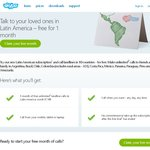 Free Calls to Latin America for 1 Month - Skype