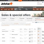 Jetstar Sale with up to 60% off - from Today until 26th June