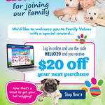 $20 off Your Next Purchase @ PETstock
