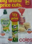 Coles Big Brand Price Cuts - 1/2 Price Specials - Sep 10 to 16