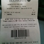 Opal Card Top up - $20 off $100 @ Woolworths (In Store, Cabramatta NSW)