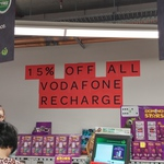 15% off Vodafone Recharge Vouchers at Woolworths