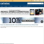 Carbatec 10% off Online Offer for New Site Launch (Woodworking Tools)