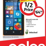 Microsoft Lumia 435 Dual SIM Unlocked $64.50 (Save $64.50) @ Coles [VIC, NSW, QLD]