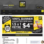Vinyl Banner 1.5m X 1m for $4.95 + Delivery @ Xtreemtc