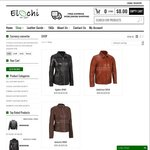 Online Leather Jackets - USD $50 (~AU $70) off on Any Purchase (Free Shipping) @ Elochi.com