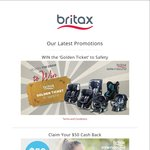 $50 Cash Back from Britax Vouchers at PB&C Expo Brisbane