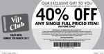 Spotlight - 40% off Any Full-Priced Item (Need VIP Card)
