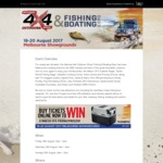 [VIC] Adult Tickets (Normally $18) $15 @ National 4x4 Outdoors Show, Fishing & Boating Expo Melbourne (18-20 August)