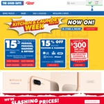 The Good Guys 15% off Kitchen, Laundry and Cleaning