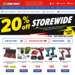Total Tools 20% off Storewide (Instore Only) Exclusions Apply