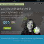 DNA Testing $90 (Was $129) + $29.99 Shipping @ Ancestry