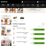 Free Shipping on All Nespresso Orders until Thursday 26th April