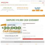 Win $10,000 Cash from Sheplers