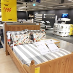 [VIC] Double Bed Frame HURDAL $199 (60% off RRP $499) at IKEA Springvale