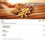 3 for $3. 2 Wicked Wings and Regular Chips @ KFC (WA ONLY)
