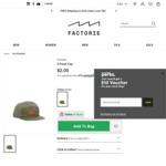 Unisex Khaki 5 Panel Cap - $2 C&C @ Factorie