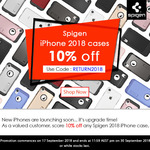 10% off Spigen iPhone 2018 Cases @ Pro Gadgets