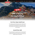Win a Trip for 4 to Italy Worth $30,000 or 1 of 3 Bali Trips Worth $6,400 from D'Orsogna (Buy D'Orsogna Ham at a Woolworths Deli