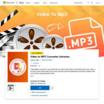 $0: Video to MP3 Converter Extractor, Video Editor & Slideshow Maker Express, Add Stickers, Photo, Text to Video @ Microsoft