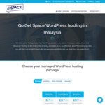 WordPress Hosting 50% off (from US $4.99/Month) @ GoGetSpace
