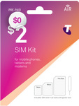 Free Telstra Pre-Paid Starter Sim Kit (Was $2) Delivered @ Telstra Online