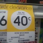[NSW] Rose Mcgowan Brave Biography $0.40, Caroline Kepnes Providence $4 @ Kmart, Merrylands