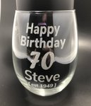 EXTENDED DUE TO DEMAND 50% off Personalised Engraved Stemless Wine Glasses Now $29.95 (6 Pack) or $9.95 Each @ Laser Cut Crafts