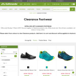 Kathmandu Further 20% off Clearance Footwear - Saucony DXN $40 - Arcia Women's Slide $40 - Serpentine 2 $52 - C&C/+Delivery