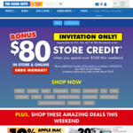 $80 Store Credit on $500+ Spend / PS4 Pro $559 + $80 Store Credit @ The Good Guys