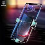 Baseus Universal Car Phone Holder Air Vent Mount Metal Gravity Mobile Phone Holder $9.98 Delivered @ eSkybird